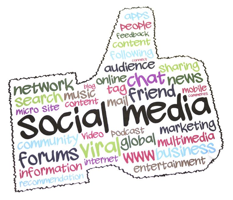 """Social Media """"Thumb"""" illustration"""