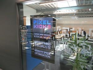 The Pixel Kicks window TV