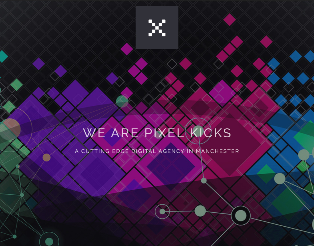 New Pixel Kicks website, November 2014