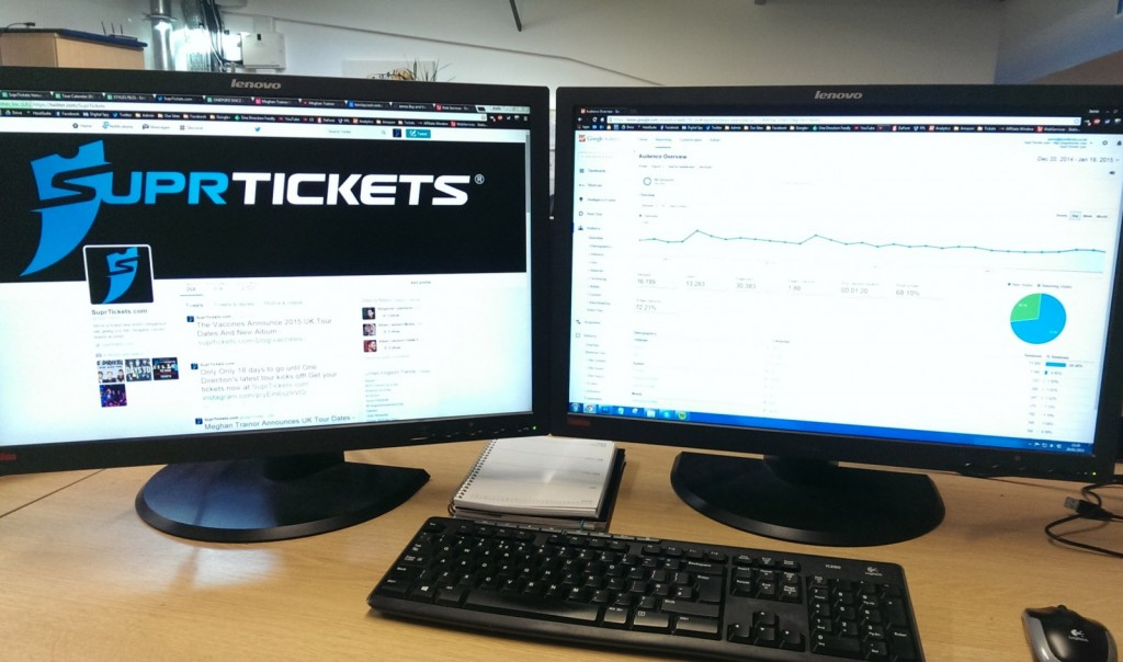 SuprTickets two monitors