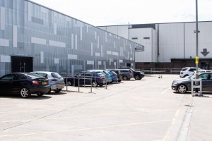 The rear car park at The Sharp Project