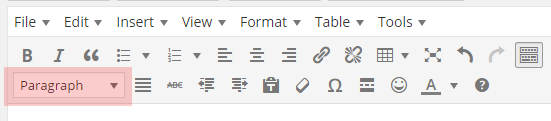 Wordpress editor toolbar buttons