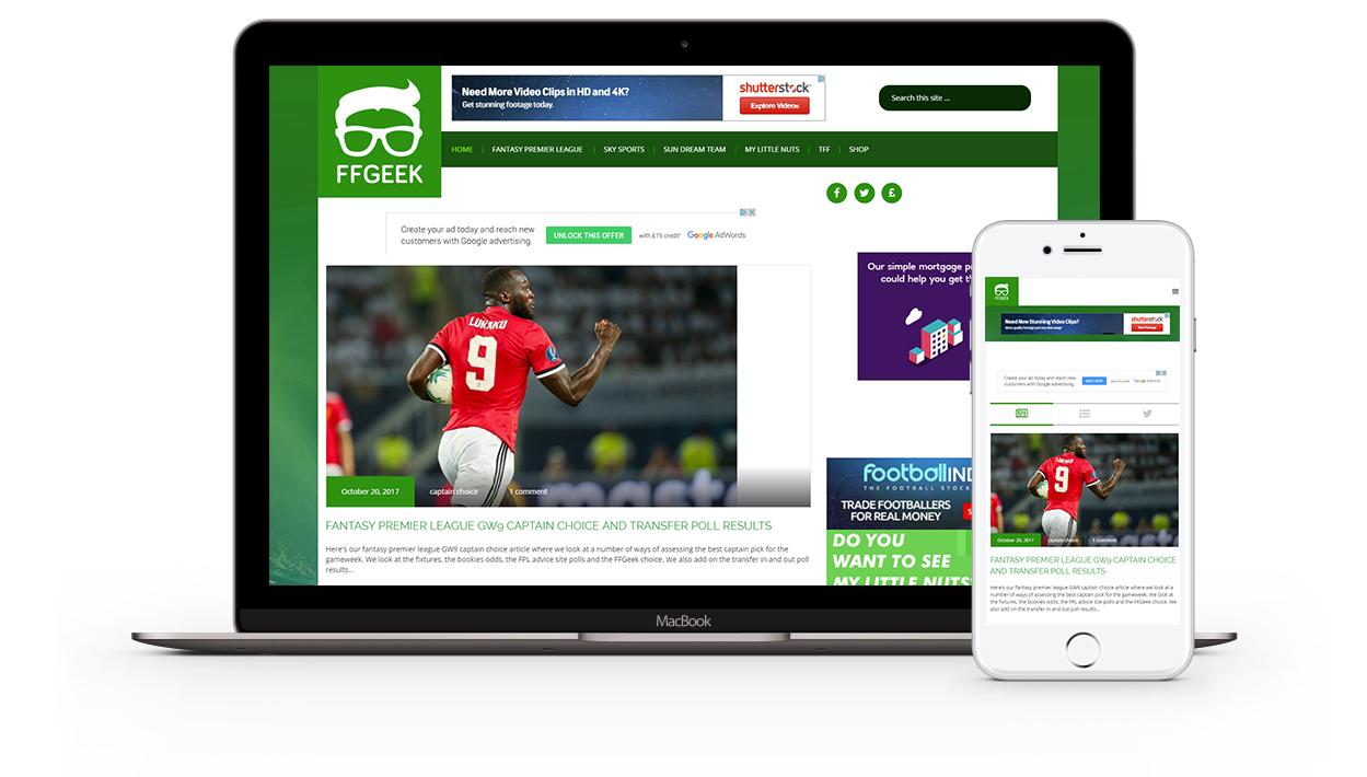 Fantasy Football Geek Website Design