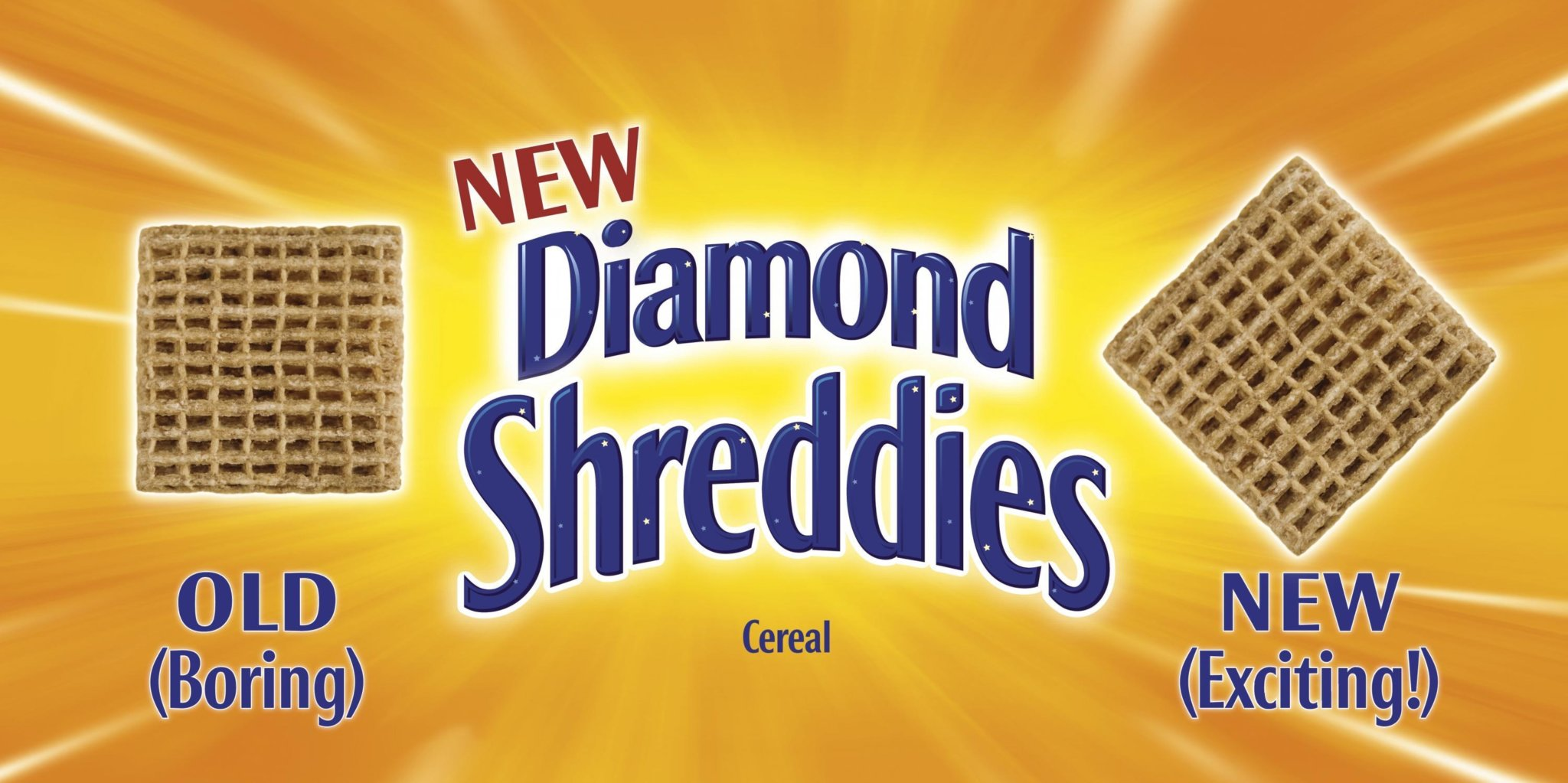 Kraft Foods Canada - Diamond Shreddies Old (Boring) and New (Exciting), 45 Degree Flip