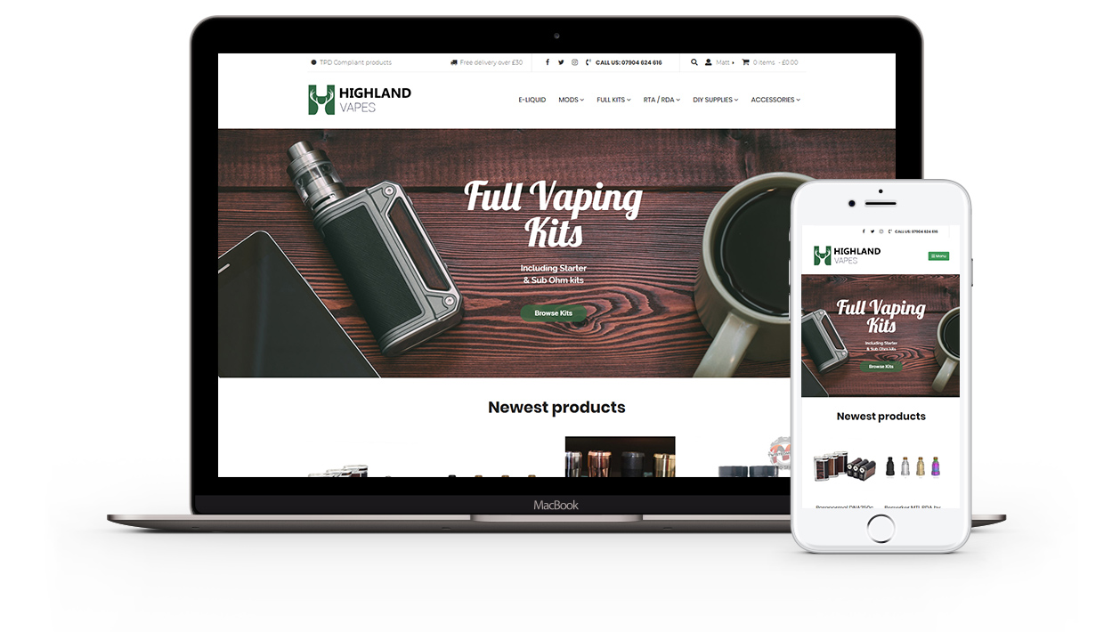 Highland Vapes - Vapestore