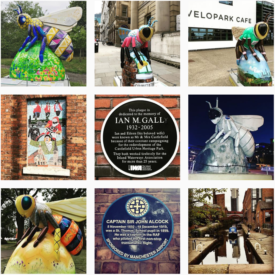 Manchester bee photos on Instagram