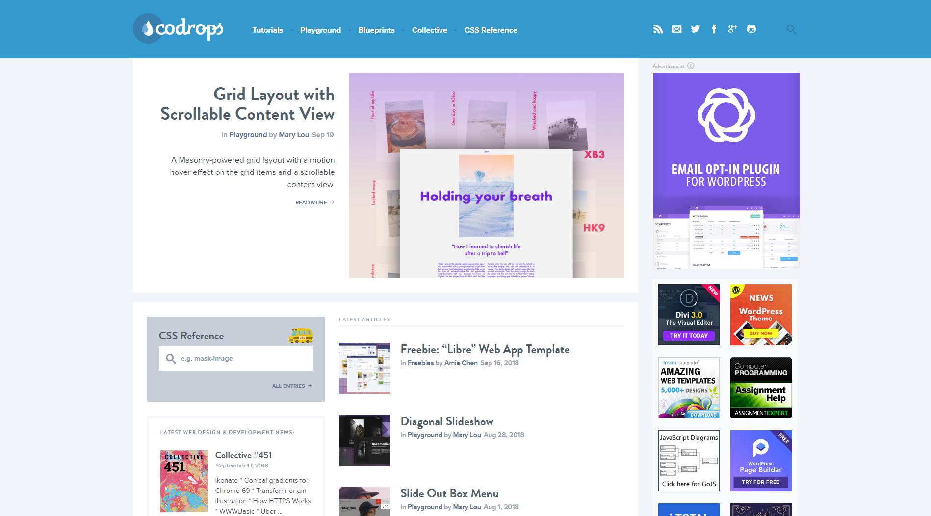 codrops homepage
