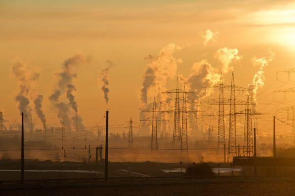 Industrial chimney pollution