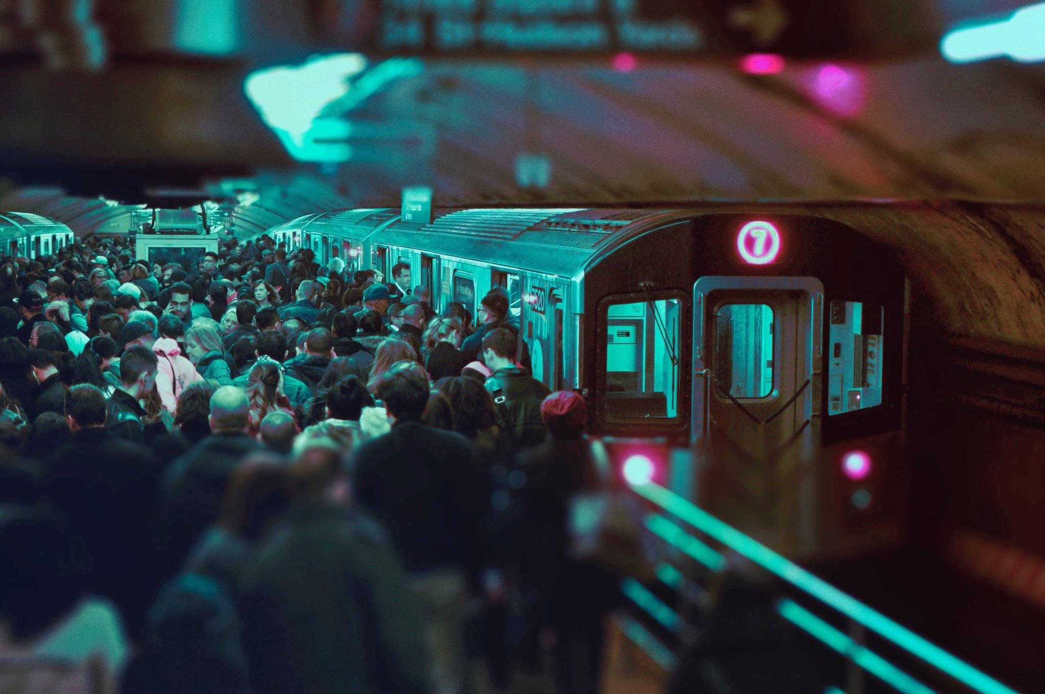 Overpopulated train