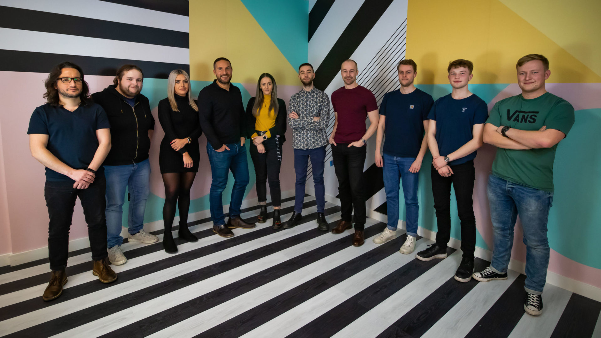 The Pixel Kicks team in our Huckletree office
