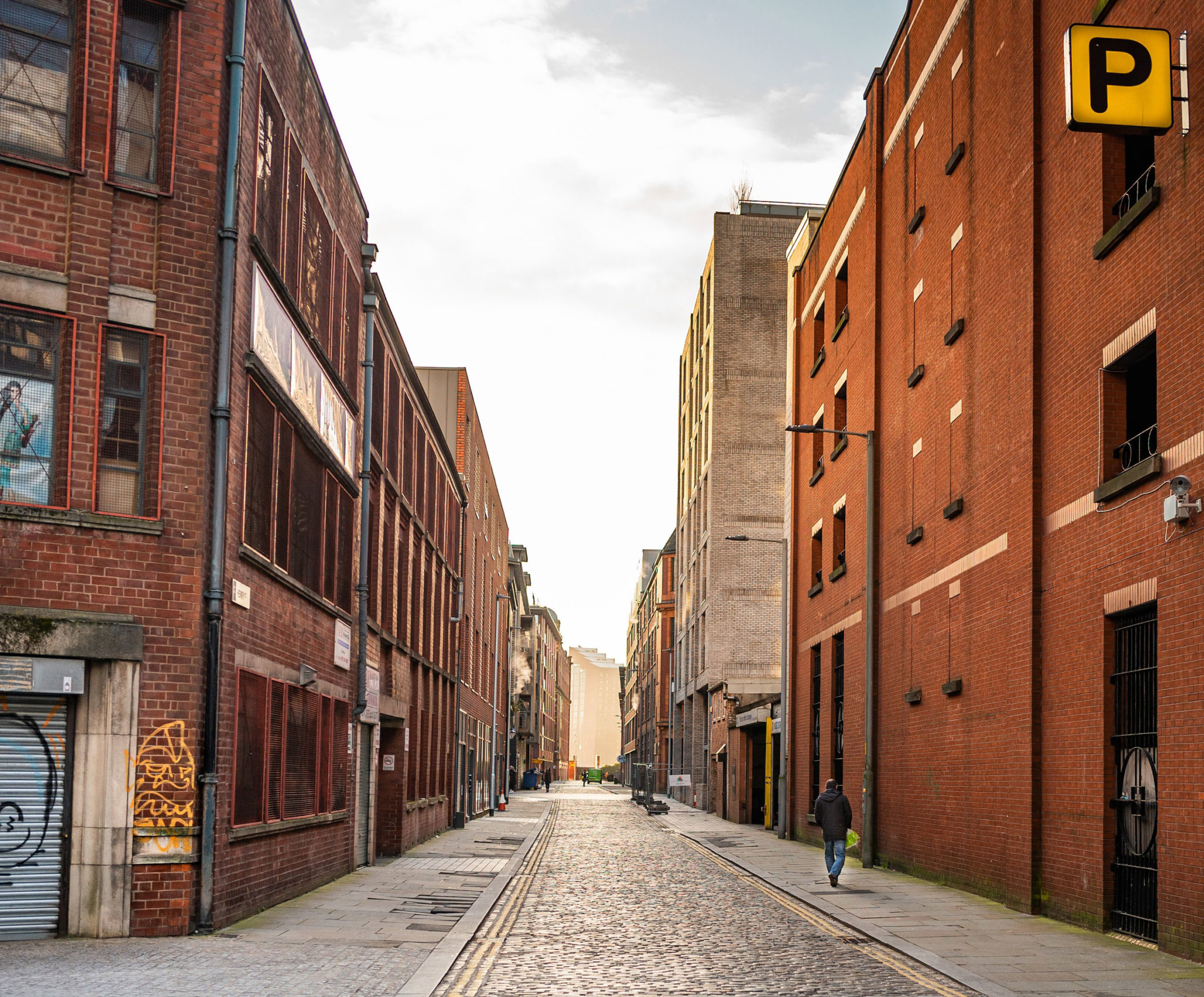 Local Ancoats street in Manchester