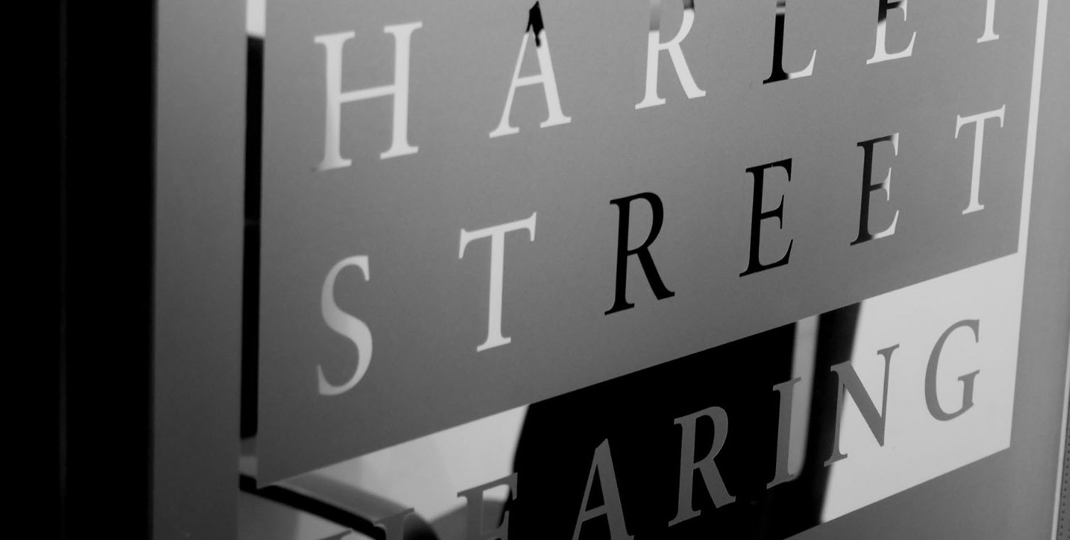 Harley Street Hearing | Glass Sign