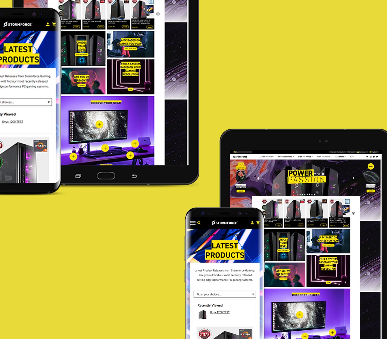 Stormforce Gaming website design