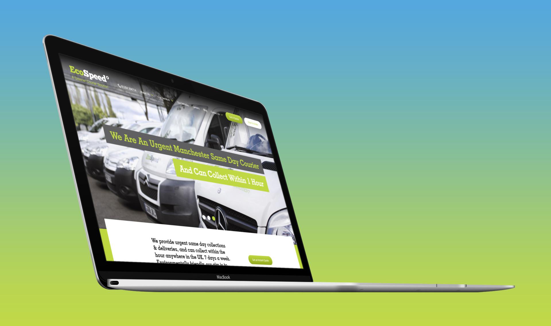 Ecospeed | Macbook Angled Device Mockup
