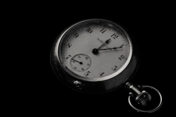 a black and white stopwatch