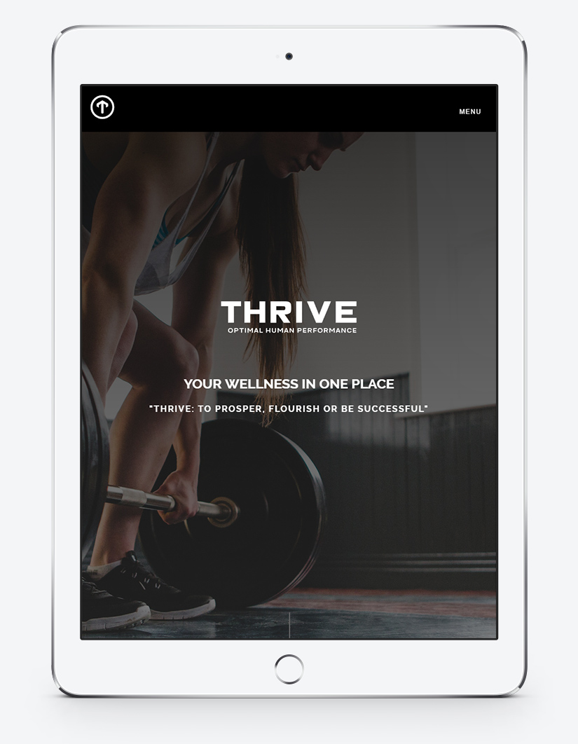 Thrive OHP | Optimal Human Performance | iPad