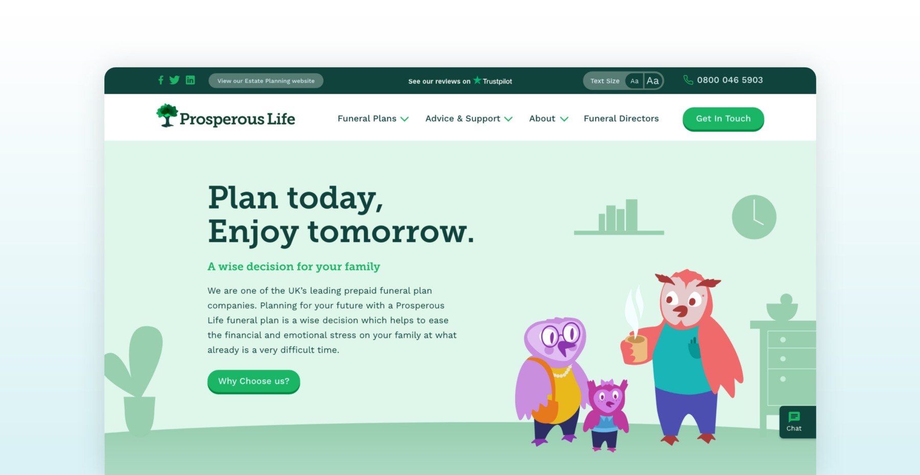 prosperous life homepage owls welcome
