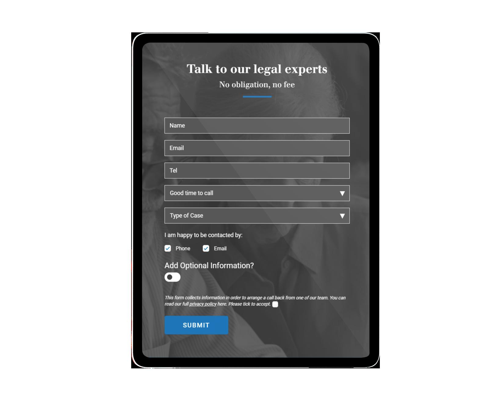 Mobile Website Design for law firms