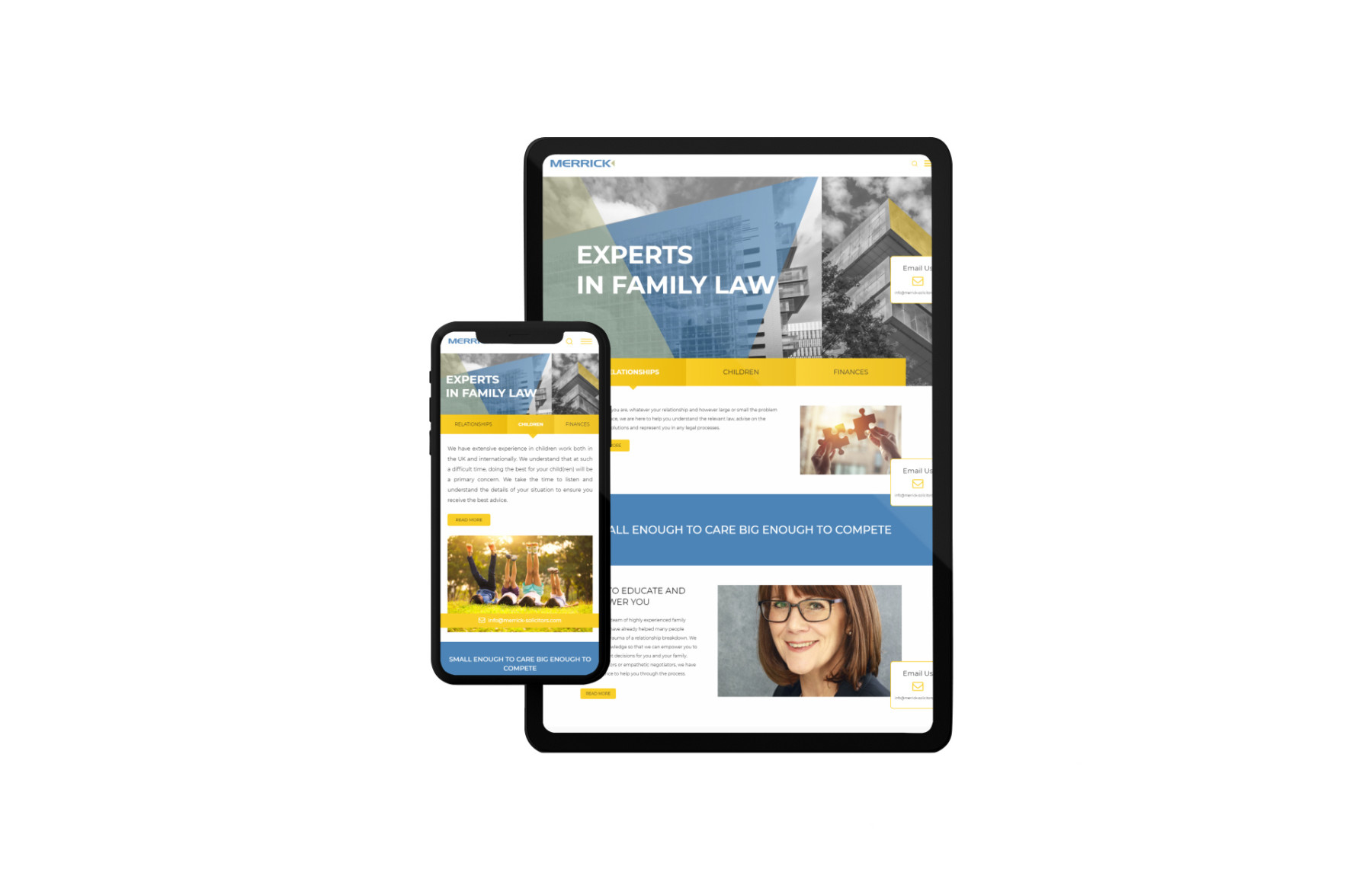 Merrick Solicitors - mobile website design