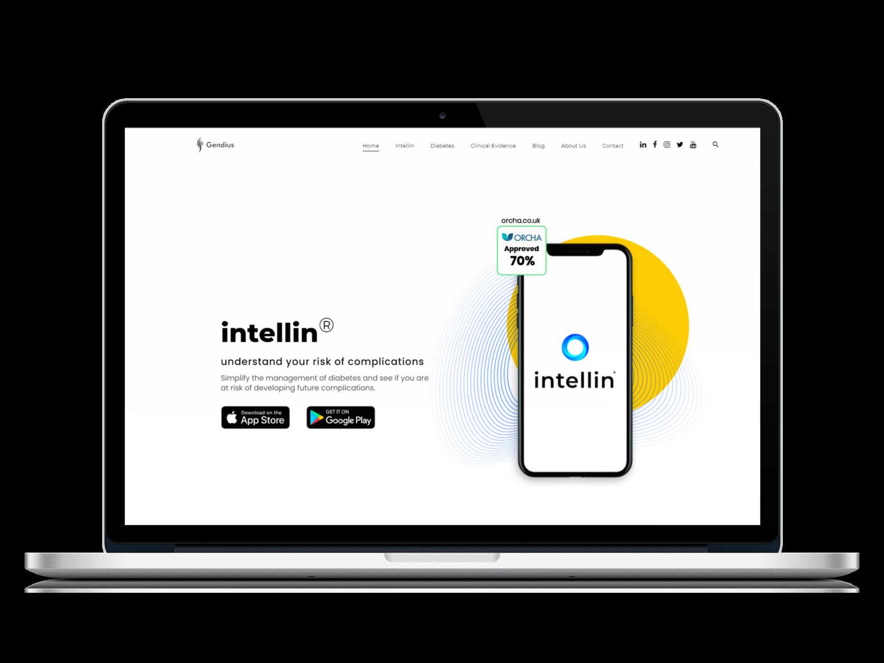 Gendius - Intellin Diabetes Management app | Desktop