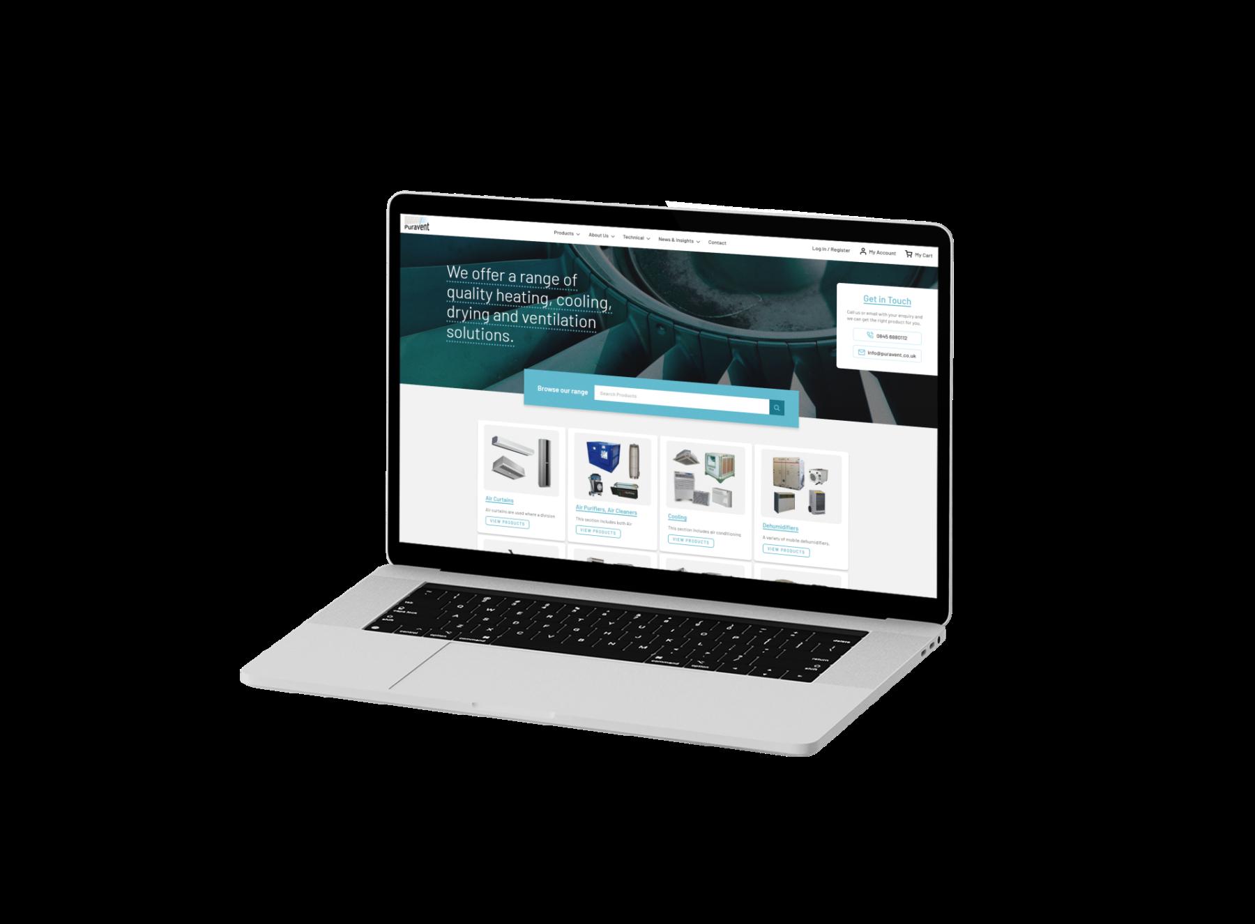 Puravent Magento Ecommerce Website