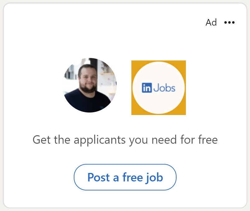 LinkedIn Dynamic Advert example