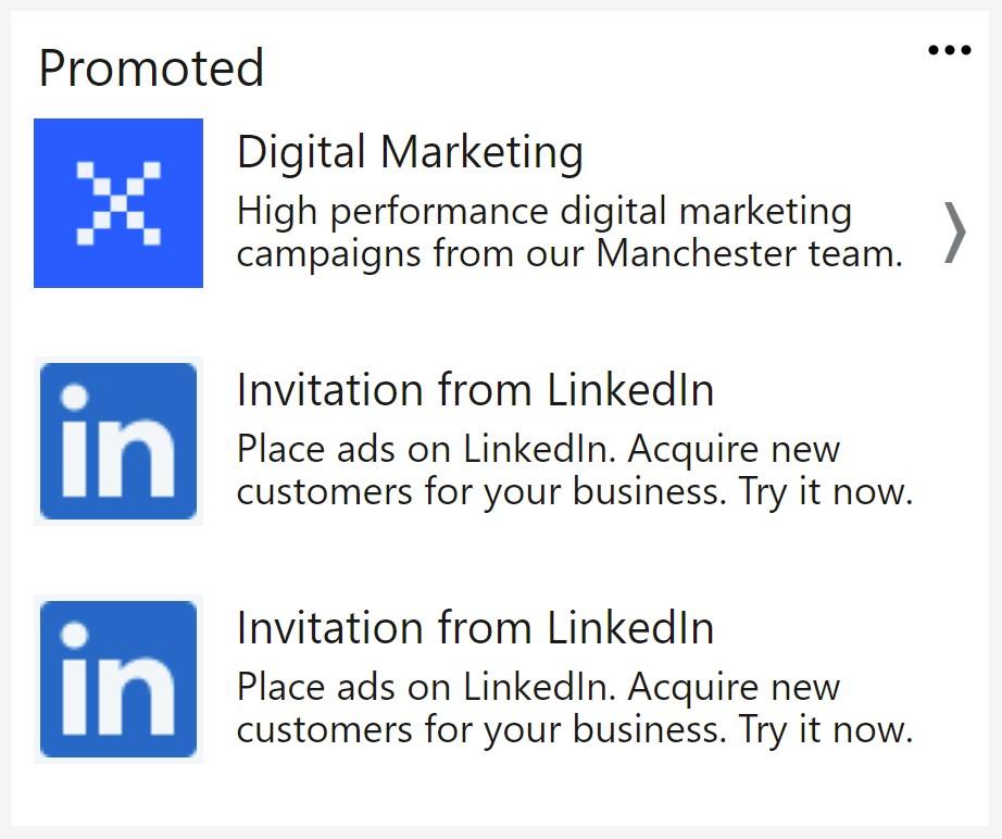 LinkedIn Text Ad Example