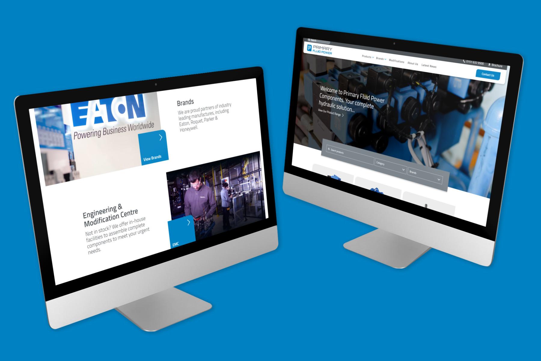 Primary Fluid Power   Desktop Website Design