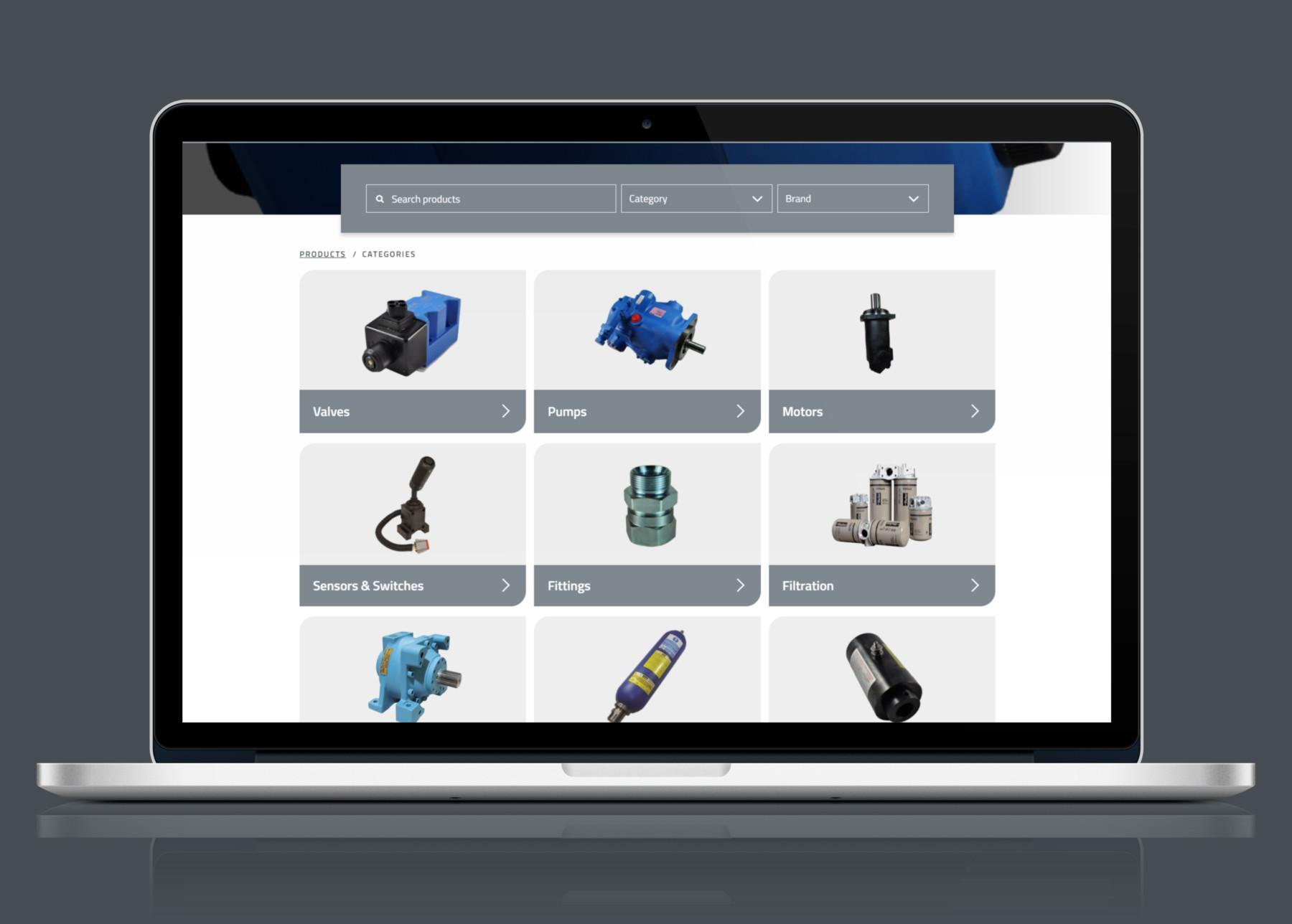 Primary Fluid Power   Laptop Website Design