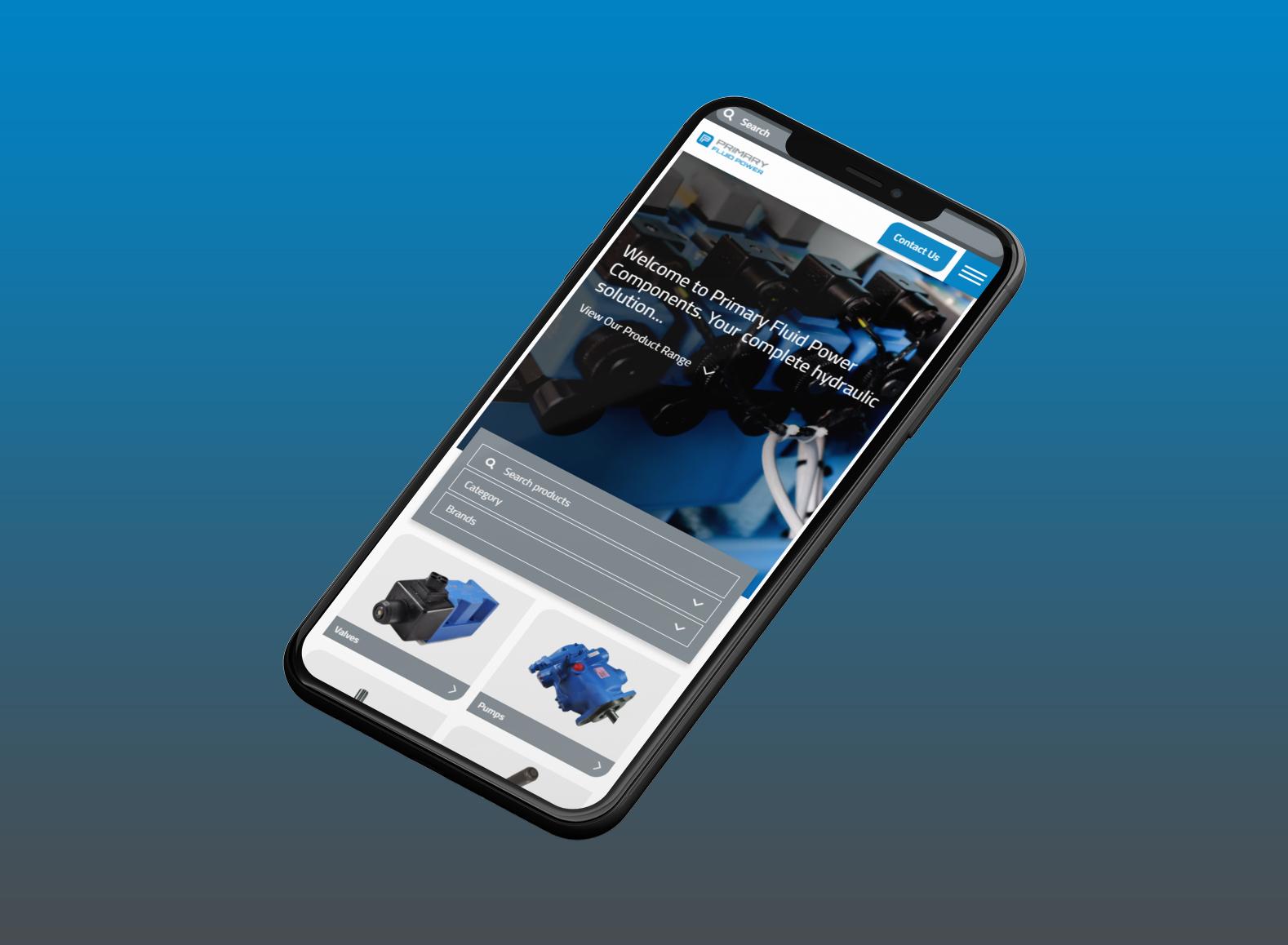 Primary Fluid Power   Mobile Website Design