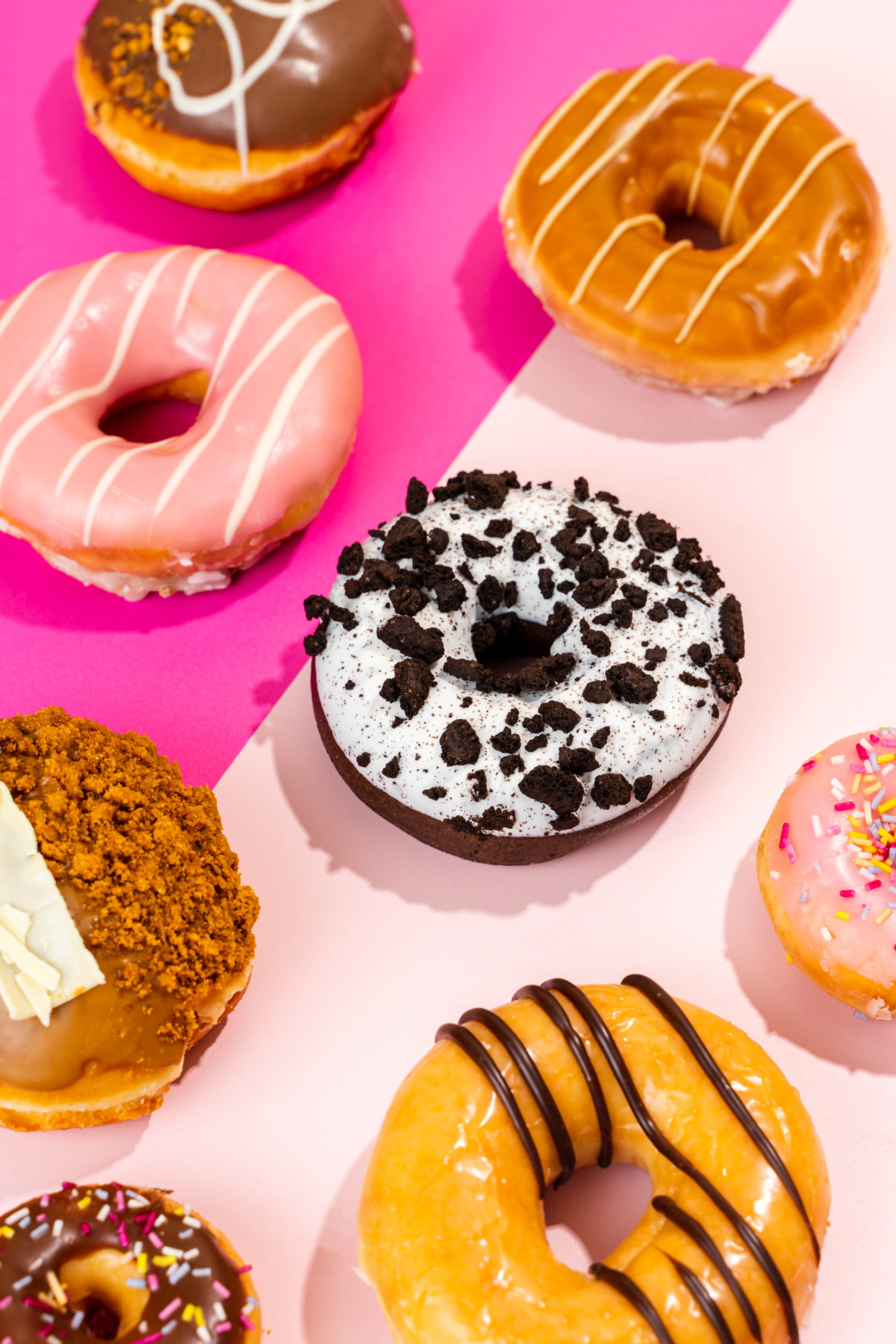 bright doughnut food photography