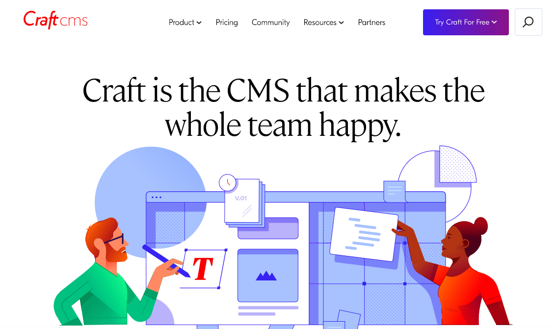 Overview of the Craft CMS website